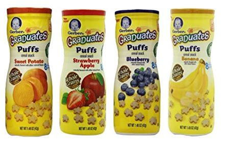 Gerber Puff Banana gerber graduates apple strawberry banana sweet potato