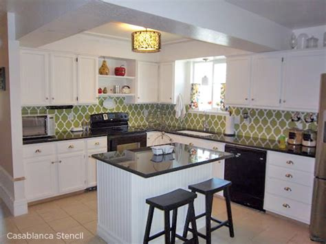Creative Kitchen Backsplash Ideas benjamin moore starts a trend with stenciled kitchen