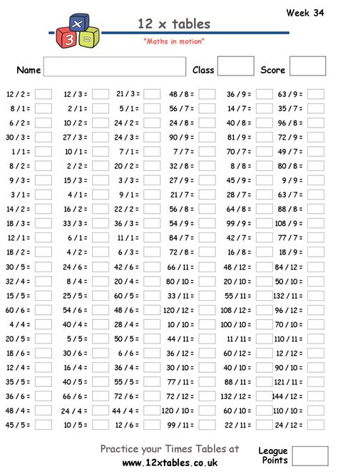 Multiplication Table Test times table test search results calendar 2015