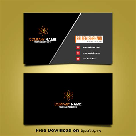 post card psd template business card templates psd free