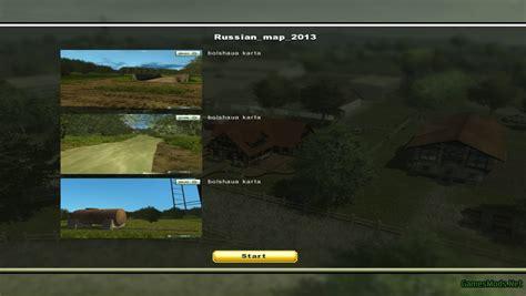 us maps for farming simulator 2013 russian map v2 187 gamesmods net fs17 cnc fs15