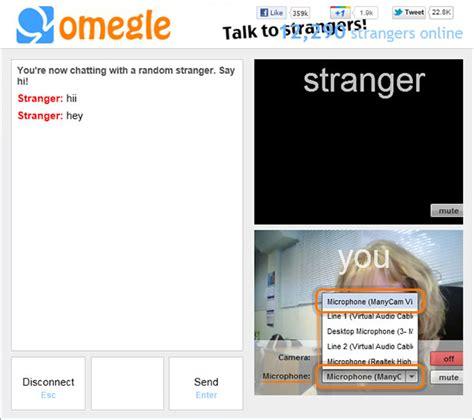 cam omegle webcam software for omegle manycam