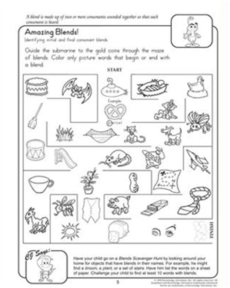 amazing blends reading worksheets for 2nd grade