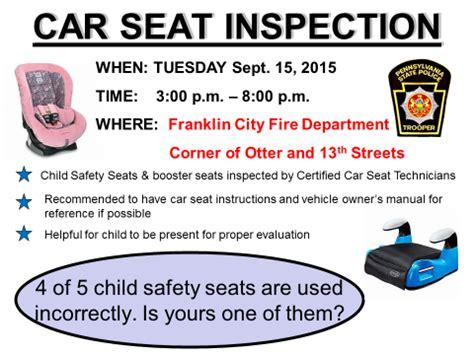 Psp Background Check Penndot Psp Franklin To Hold Car Seat Safety Checks On September 15 Explorevenango