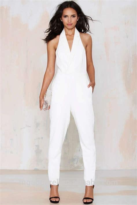 Jamsuit Jumpsuit Jumsuit White Putih 2015 Jumpsuit White Formal Tuxedo