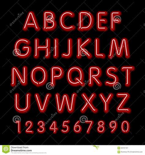free download neon typography neon glow alphabet vector design party retro 3d neon font