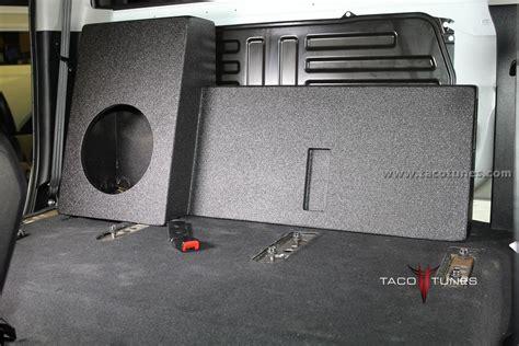 Toyota Tacoma Subwoofer Box 2014 Toyota Tundra Crewmax Ported Size Subwoofer