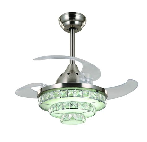 led ceiling fan light modern contracted led ceiling fan light minimalist for living room bedroom in ceiling