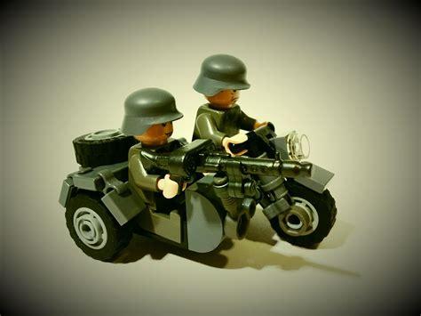 Lego Motorrad Mit Beiwagen deutsches motorrad mit beiwagen lego motos bikes