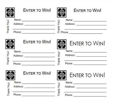 printable raffle tickets with numbers free sle raffle ticket template 20 pdf psd illustration