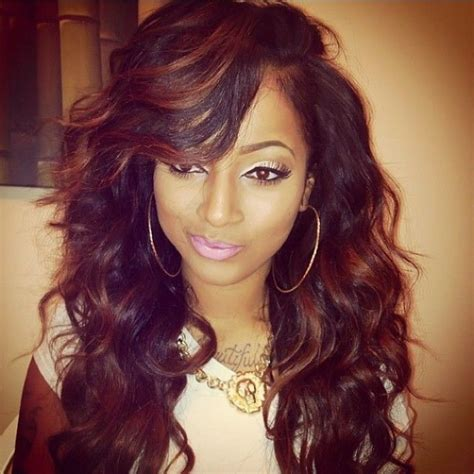 hairstyles using kanubia brazilian natural body with bangs 28 best loose wave brazilian hair weave images on