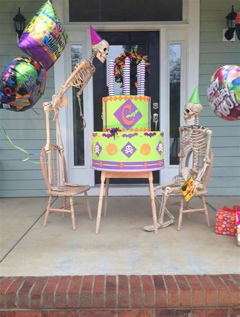 images  baxter skeletons front porch fun  pinterest bubble baths family