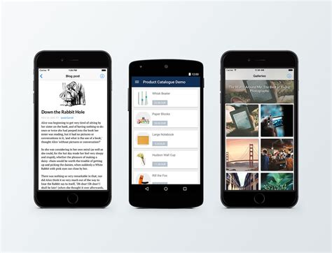3 mobile app mobile exle apps blogs galleries product catalogues