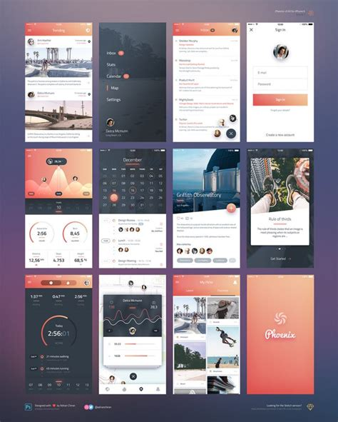 Ios Splash Screen Template Psd by Iphone 6 Ios Application Ui Kit Free Psd