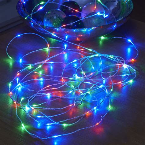rgb led christmas lights micro led string lights battery operated remote