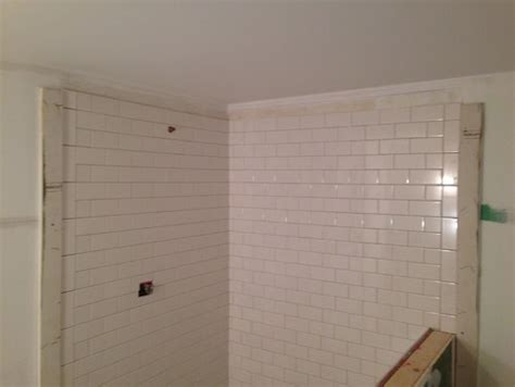 What Height Should Wainscoting Be Subway Tile And Uneven Ceiling