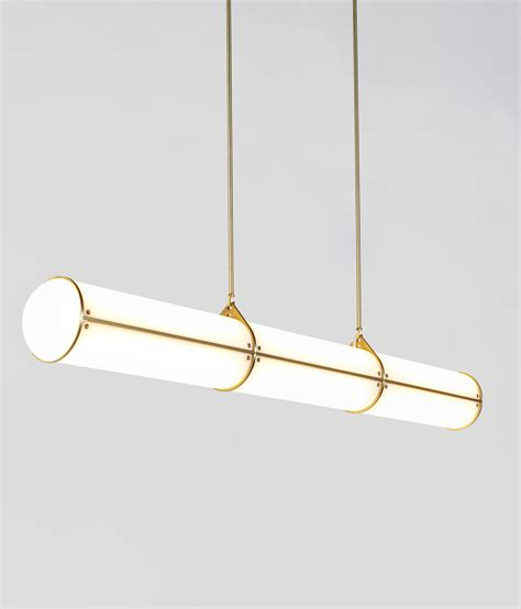 roll and hill lighting endless straight 3 units brass general lighting from