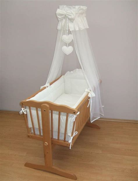 Swinging Crib Bedding Sets 10 Crib Baby Bedding Set 90x40cm Fits Swinging Rocking Cradle Hearts Beige Ebay