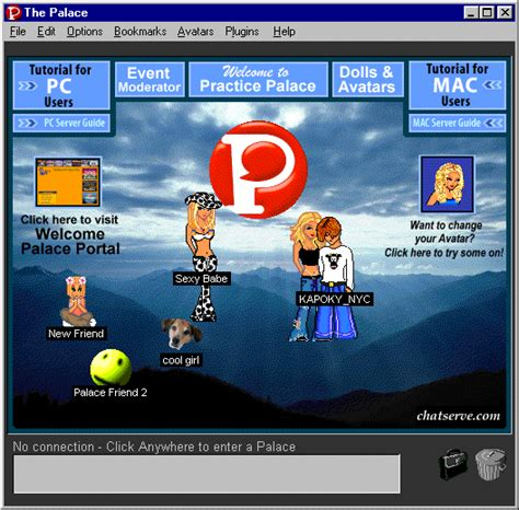 avatar chat rooms the cumpound gerald avatar chat room server the palace