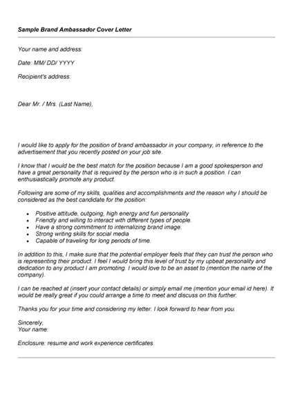brand ambassador cover letter emailing cover letters email cover letter exle 10