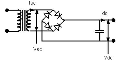 filter capacitor in bridge rectifier rectifier transformer calculation