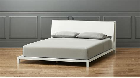 cb2 platform bed alpine white full bed cb2