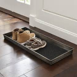 Floor And Decor Outlet zinc boot tray with liner crate and barrel