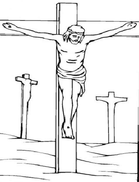 coloring page jesus cross good friday coloring pages jesus on cross batch coloring