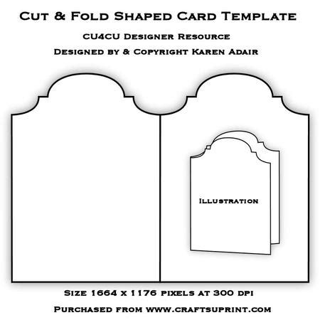 cut fold shaped card template cup386882 168 craftsuprint
