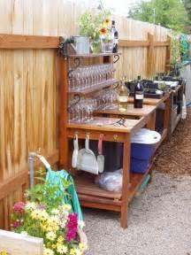 Pottery Barn Activity Table Montana Wildlife Gardener Repurposed Potting Bench
