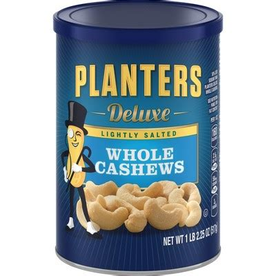 Planters Cashews by Planters Deluxe Whole Cashews Lightly Salted 18 25oz