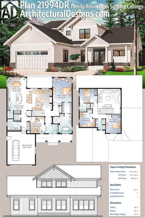 dreamy 4 bedroom with soaring ceilings open plan 5847 best floor plans images on pinterest home plans