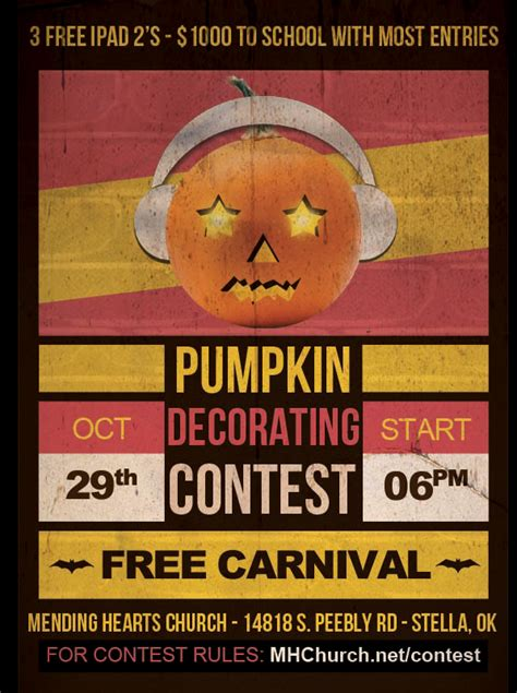 contest flyer template pumpkin contest flyer images
