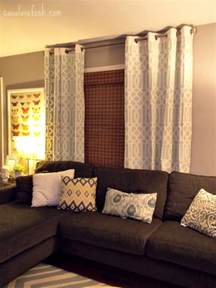 Brown And Gray Curtains The Window Treatment And Sectional This Would Work In My Living Room Livingroom Design