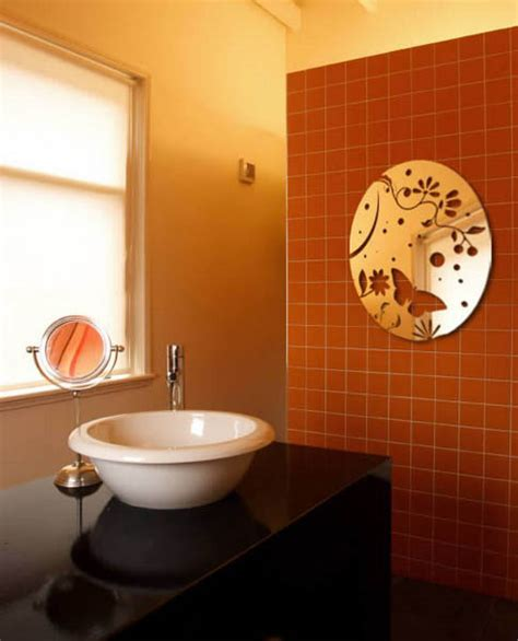 mirror stickers bathroom mirror wall stickers bright ideas for room decorating