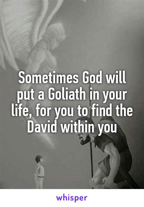 the within how to find god s that lives inside of you books sometimes god will put a goliath in your for you to