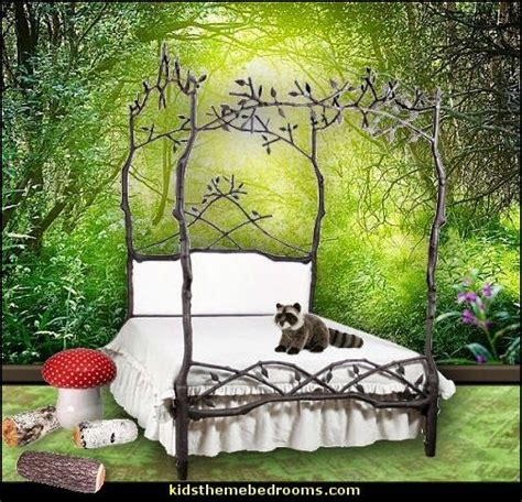 Enchanted Forest Nursery Decor Enchanted Forest Canopy Bed With Upholstered Headboard Future Rooms 2 Pinterest