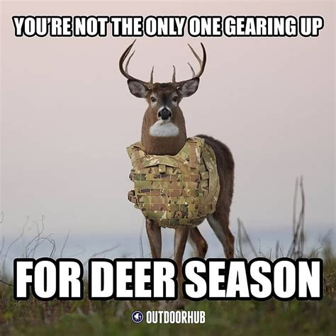 Deer Hunting Memes - you re not the only one gearing up for hunting meme picsmine