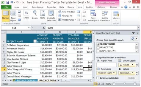 Free Event Planning Tracker Template For Excel Event Planning Template Excel