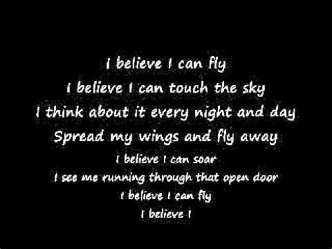 i believe i can fly testo i believe i can fly lyrics better version