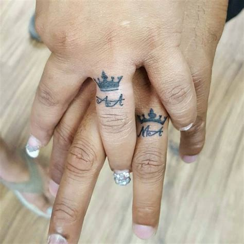 Wedding Tattoos 55 wedding ring designs meanings true