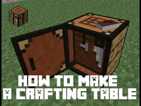 how to make a crafting bench in minecraft how to make a crafting table in minecraft youtube