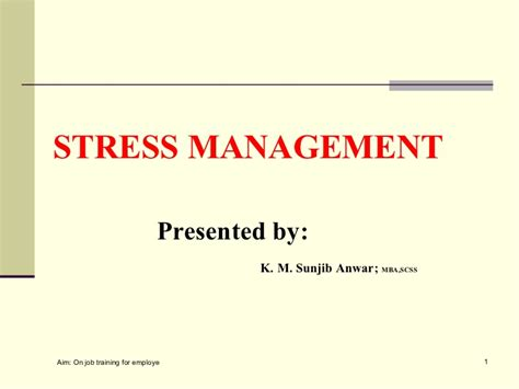 Mba Is Stressful by Stress Management