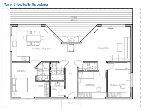 affordable home plans affordable modern house plan ch61 house plans cost to build in 3 bedroom house plans