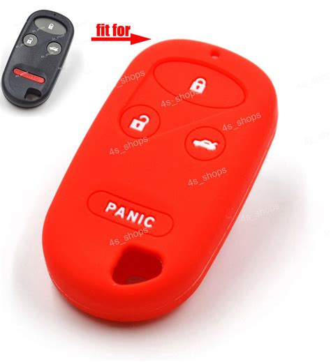 Silicon Remote Alarm Agya Remote Alarm Agya 4 3 1 button silicone skin cover remote fob for honda keyless entry key ebay