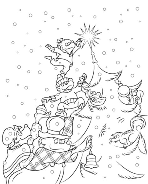 The Berenstain Bears Christmas Tree Coloring Page Free Berenstain Bears Tree Coloring Page