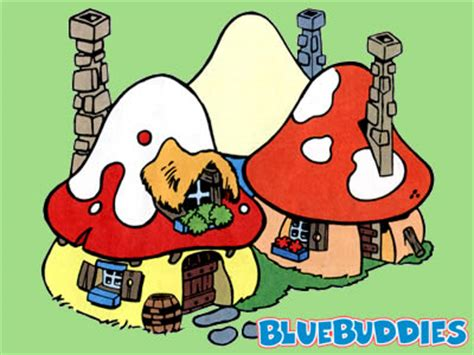 Smurf House by Pin Smurfette Coloring Page On