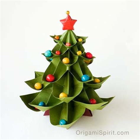 diy to try paper christmas tree origami craft and