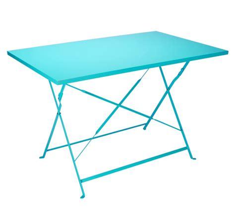 Attrayant Table De Jardin Truffaut #5: table-jardin-rectangulaire-pliante-bleu-turquoise-4-6-places-110-cm-hd.jpg