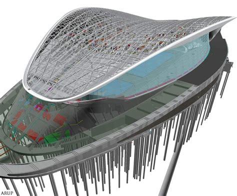 Inspiration Home Design Center steel structure of zaha hadid s aquatics centre